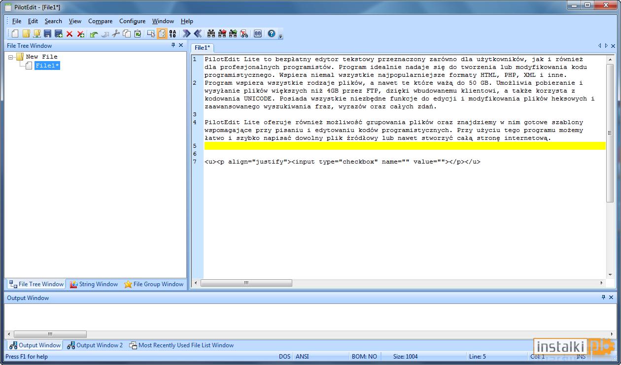 PilotEdit Lite 12.5.0 (ПилотЭдит Лайт) скачать текстовый редактор для больших файлов