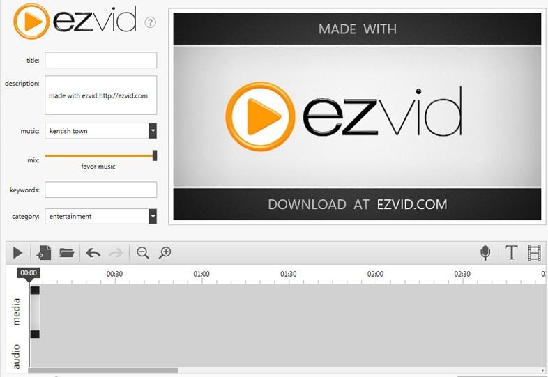 EZVID 1.0.0.4 запись видео с экрана