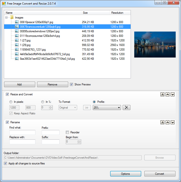 Free Image Convert and Resize 2.1.70.822