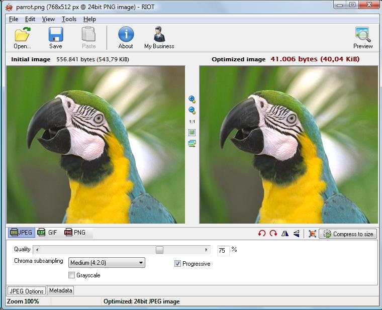 RIOT — Radical Image Optimization Tool бесплатный графический конвертер