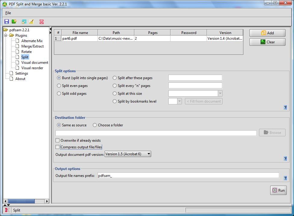PDF Split&Marge 4.0.1