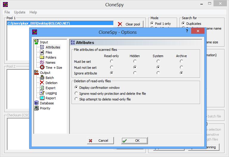 CloneSpy скачать бесплатно программу для удаления копий файлов