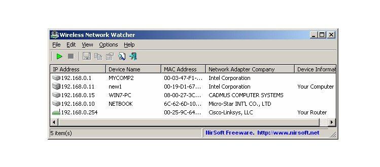 Wireles Network Watcher